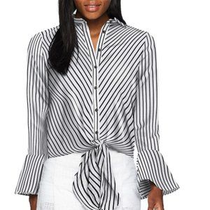 Women's Stripe Tie Shirt